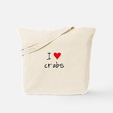 I LOVE Crabs Tote Bag