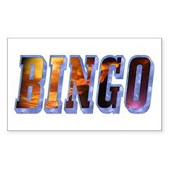Bingo Text Rectangle Sticker 10 pk)