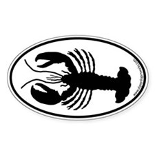 Lobster SILHOUETTE Oval Decal