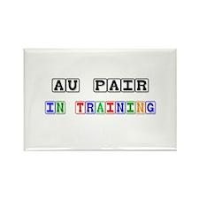 Au Pair In Training Rectangle Magnet
