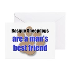 Basque Sheepdogs man's best friend Greeting Cards