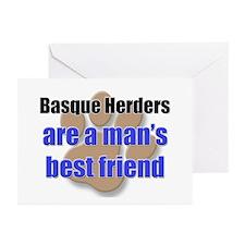 Basque Herders man's best friend Greeting Cards (P