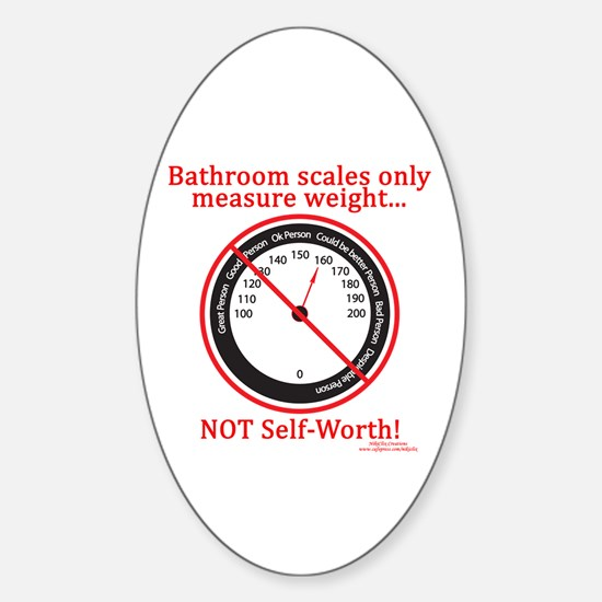 Weigh In Time Oval Decal
