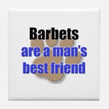 Barbets man's best friend Tile Coaster