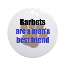 Barbets man's best friend Ornament (Round)