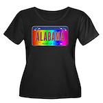 Alabama Women's Plus Size Scoop Neck Dark T-Shirt