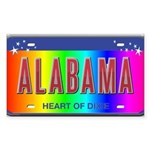 Alabama Rectangle Sticker