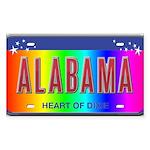 Alabama Rectangle Sticker 50 pk)