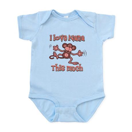 I love Nana this much Infant Bodysuit