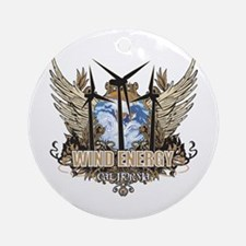 California Wind Energy Ornament (Round)