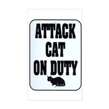 Attack Cat Rectangle Decal