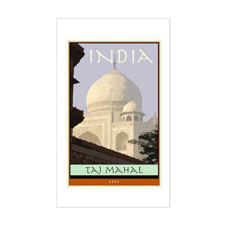 India Rectangle Sticker
