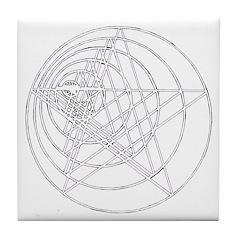 Pentagram Growing Tile Coaster