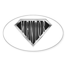 SuperMentor(metal) Oval Decal