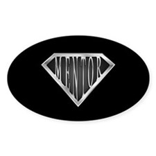 SuperMentor(metal) Oval Decal