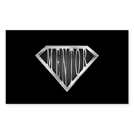 SuperMentor(metal) Rectangle Sticker