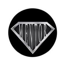 "SuperMentor(metal) 3.5"" Button"