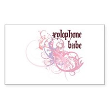 Xylophone Babe Rectangle Decal