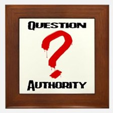 Question Authority 1 Framed Tile