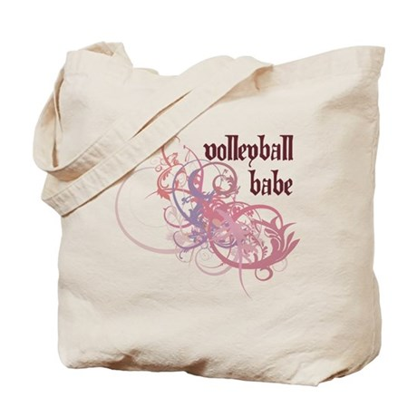 Volleyball Babe Tote Bag