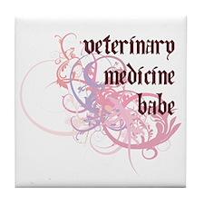 Veterinary Medicine Babe Tile Coaster