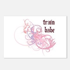 Train Babe Postcards (Package of 8)