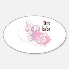Tire Babe Oval Decal