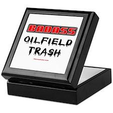 Badass Oilfield Trash Keepsake Box