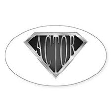 SuperActor(metal) Oval Decal