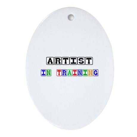 Artist In Training Oval Ornament