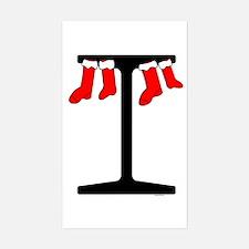 I Beam Stockings Rectangle Decal