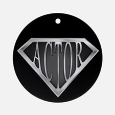 SuperActor(metal) Ornament (Round)
