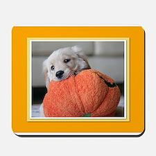 Golden Puppy Pumpkin Mousepad