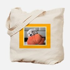 Golden Puppy Pumpkin Tote Bag