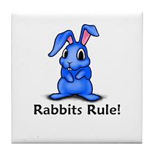 Rabbits Rule! Tile Coaster