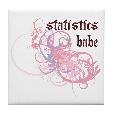 Statistics Babe Tile Coaster