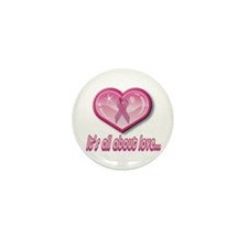 All about love Pink Ribbon Heart(10 pack)