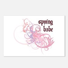 Spying Babe Postcards (Package of 8)