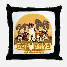 Dog Days of Summer Throw Pillow
