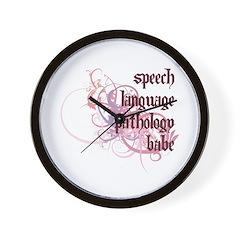 Speech Language Pathology Babe Wall Clock