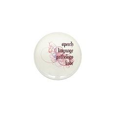 Speech Language Pathology Babe Mini Button (10 pac