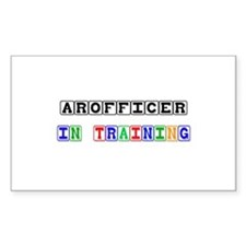 Arofficer In Training Rectangle Sticker