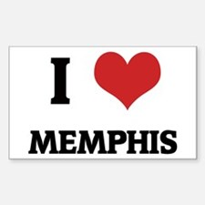 I Love Memphis Rectangle Decal