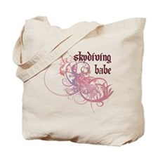 Skydiving Babe Tote Bag