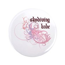 "Skydiving Babe 3.5"" Button"