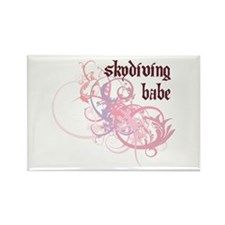 Skydiving Babe Rectangle Magnet