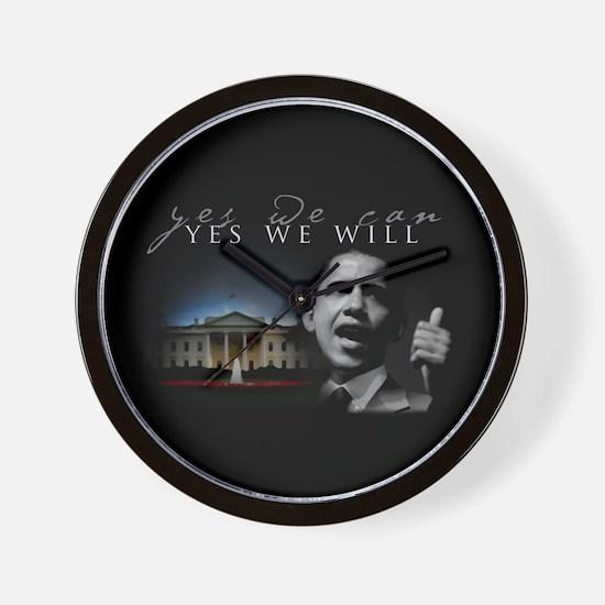 Cute Obama victory Wall Clock