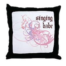 Singing Babe Throw Pillow