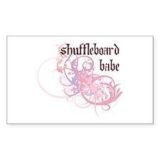 Shuffleboard Babe Rectangle Decal