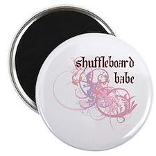 Shuffleboard Babe Magnet